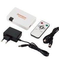 Universal -Compatible a RF Cable de conversión coaxial Cables de adaptador con fuente de alimentación de control remoto para conversión de TV Conectores de audio