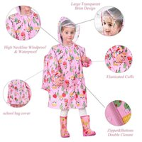 Jaquetas impermeáveis crianças meninos meninas meninas desgaste desenhos animados casaco de uma peça casaco crianças raincoat jaqueta com bolsa de escola cobre
