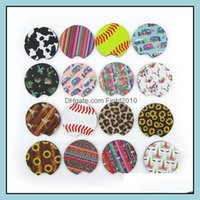 Event Festive Party Supplies & Gardenparty Favor 18Style Baseball Softball Design Neoprene Car Coasters Cup Holder Coaster For Mugs Mat Cont
