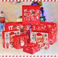 Bolsas De Embalagem De Natal Adesivos Definir Natal Neve Claus Papel Sacos Adesivo Floco de Neve De Snowflake Belo pacote Decoração 496