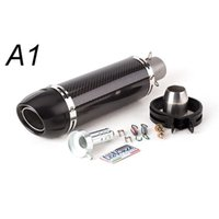 Motorcycle Exhaust System Fit All 36-51mm Moto Pipes Universal Modified Pipe Carbon Fiber BLACK SILVER LEOVINCE Muffler