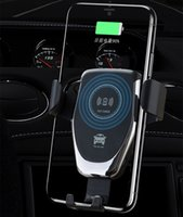 High Quality Q12 10W Car Mount Wireless Charger for iPhone XS 8 8Plus Samsung S10 S9 S8 S7 Quick Qi Fast Charging Cars Phone Holder with Retail Box