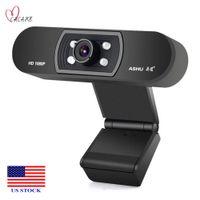 Webcam USB con microfono Computer Camera HD 1080P Web Cam PC C0008 US Stock Azioni Veloce consegna