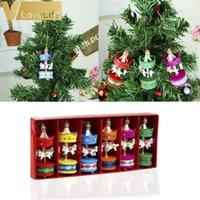 6pcs carrousel bois carrousel cheval arbre décorations de Noël pour les ornements de la maison cadeaux de nouvel an 2020