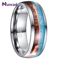 Wedding Rings 2021 8mm Width Tungsten Steel Men's Ring Veneer + Rose Gold Arrow Fully Polished Inner Dome Carbide