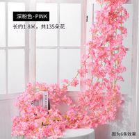 Fleur artificielle de 180 cm Vigne de la vigne Cerisier Fleurs de cerisier Vigne en plastique pour Jardin Accueil Décoration Fleur artificielle Fausse 640 R2