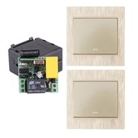 Smart Home Control AC 220V 1CH 2CH 3CH 10A RF Trådlös fjärrkontroll Ljus + Guldsändare Väggpanel