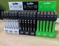 Gesetze Kekse Backwoods vorheizen VV Twist Batterie 900mAh Unterspannung einstellbar USB-Ladegerät Vape-Stift für 510 Kassetten 30pcs ein Anzeigetack-Kit
