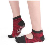 Нескользящие дамы Йога Носки Четыре сезона Бедные Спортивные Фитнес Носки Душние Клей Сплит Носок Пять Палец Yoga Мужчины Женщины