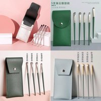 Makeup Brushes Little Grape 4 Eyeshadow Brush Set Cangzhou Blue Bridge Green Cloud Soft Eye Smudge Portable Case