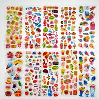 50 Blätter / los Mini Cartoon Puffy Aufkleber Kinder Dress up Tierfrucht Klassische Spielzeug für Kinder Mädchen Schullehrer Belohnungen 1097 v2