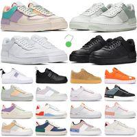 2021 الرجال النساء احذية الجري موضة المدربين الظل الثلاثي الأبيض الأسود الجليدي التنوب أورا الوردي مغسول المرجان الجسيمات رمادي الشراع رجالي أحذية رياضية force 1 af1
