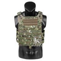 Vestes de chasse Krydex JPC2.0 Vest tactique + Panneau Molle Assuge Armure de corps léger Réglable Cummerbund Jumpable Porte-plaque