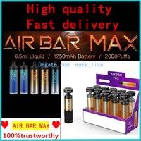 에어 바 최대 럭스 일회용 전자 담배 2000Puffs vape 펜 1250mAh 배터리 6.5ml 포드 dab 펜 스타터 키트 도매