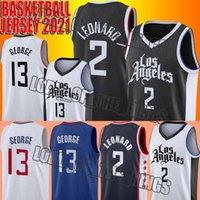 Los Kawhi 2 Baloncesto Leonard Jersey Angeles Paul 13 George Jerseys New City Version Jersey