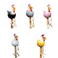 재미 있은 닭 동상 마당 정원 장식 동물 조각 공예 아트 장식 크리 에이 티브 야외 잔디 닭 입상 장식품