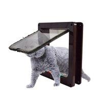 S / M / L / XL Pets باب القط الحيوان صغير الحيوانات الأليفة بوابة بوابة لوازم البلاستيك سهلة الدخول إلى داخل وخارج ناقلات آمنة، صناديق المنازل