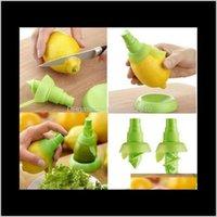 Otro pulverizador de limón Naranja, etc. Jugo de frutas Atomizador Herramientas de cocina creativas Rociadores de mano Set 2 PCSet con plato VBWUS CG8KY