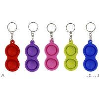 NewDeCompression 장난감 키 체인 Fidget 간단한 딤플 장난감 패션 펜던트 여러 가지 빛깔의 자동차 체인 실리카 젤 장식품 선물 열쇠 고리 EWF5606
