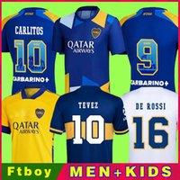 مشجعي اللاعبين الإصدار 21 22 Boca Juniors Soccer Jersey Carlitos Maradona Tevez de Rossi 2021 الثالث الصفحة الرئيسية Thail Thailand قميص كرة القدم والاطفال