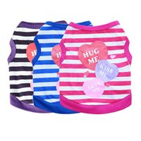 "Dog Apparel Dog clothing pet clothing Jersey Small Dog Teddy ""kiss me"" vest summer"