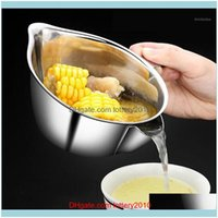 Colanders Strainers Tools Kitchen, Dining Bar Home & Gardenstainless Steel Water Separator Oil Skimmer Filter Pot Pork Ribs Soup Bowl Kitche