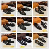 IDUZI 16 style Men's Dress Shoes Fashion Groom Wedding Genuine Leather Brand Designer Oxfords 2021 Men Formal Business Flats size 6.5-1