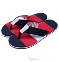 Brand designer-2017 brand new summer Men Flip-Flops Beach Slippers Shoes eur size 39-45 tnJ