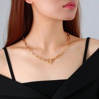 Pendant Necklaces JW04 Simulated Pearl Necklace For Women 2021 Statement Jewelry Name Gold Bamboo English Alphabet Initial Letter Pendants T