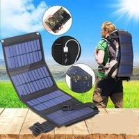Bolsas de almacenamiento Bolsa de plegamiento del panel solar 10W para caminar al aire libre Cargador de teléfono móvil