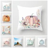 Cuscino del ringraziamento Caso di Halloween Pumpkins Cuscino Cuscino Poliestere Pumpkin Pillowcase Divano cuscini auto Decorazione 21 Stili WY1275