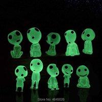 5 adet Prenses Mononoke Aydınlık Stüdyo Ghibli Reçine Action Figure Kodamas Glow Koyu Figürinler Elf Ağacı Bebekler Modeli Çocuk Oyuncakları