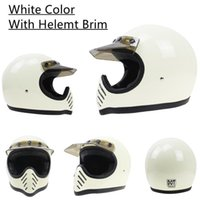 Racing Full Face Vintage Scorpion Helmet Cafe Racer Retro Cascos Para Moto Fiberglass 3 Style Light Weight Motorcycle Helmets