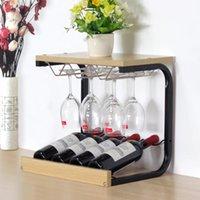 Seaux de glace et refroidisseurs Creative Moderne Moderne Minimaliste Wine Rack Décoration Gobelet à l'envers Accueil Plateau d'affichage