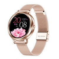 Smart Mk20 Watch 2020 Full Touch Screen 39mm Diameter Women Smartwatch for Ladies Girls Compatible with Android and Ios