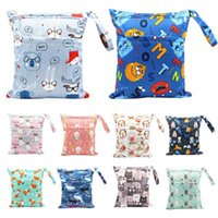 Diaper Bags Waterproof Reusable Baby Cloth Travel Wet Dry Nappy Zipper Gifts For Adult Fanny Pack Washable Soft Bags#5