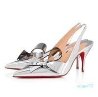 Знаменитое Летние Клэр Номе Сандалии Элегантные Красные Нижние Женская Обувь Высокие каблуки Роскошная Леди Назад Ноги Гладиаторные Насосы Party 0218