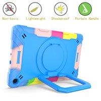 Tablet Capas 360 Girating Stand Capa com alça de ombro para Samsung Tab A7 10.4 2020 T500 / T505 / T507 ABB A 10.1 2019 T510 / T515