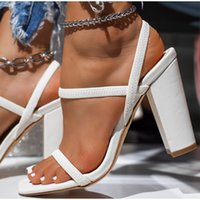 2021 Women Shoes Pumps Summer Fashion Open Toe High Heel Wedding Bridal Sandals Female Thin Belt Thick Heels Party Casual Females Sandal 8-10cm AL9040