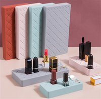 Lipstick Storage Silicone Multi-Part Cosmetics Organizing Rack Dressing Table Lipstick Creative Showing Stand 12/24/34 Grid