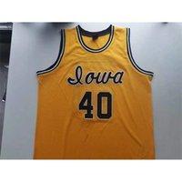 123Rare jersey de basquete homens jovens mulheres vintage # 40 chris street Iowa Hawkeyes tamanho da faculdade s-5xl personalizado qualquer nome ou número
