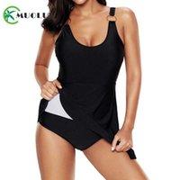 MUOLUX PLUS Размер купальника платье 2021 сексуальный черный винтаж цельный Купальники женские купальники юбка пляж монокини большой размер 5xl