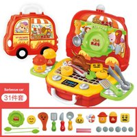 Pretend Play And Dress -Up Beauty Kids Portable Suitcase Toys Tool Kitchen House Makeup Baggage Boy Girl Luggage Box Handbag Bag