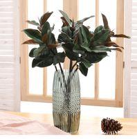 Falsa magnólia folhas ramo seda folhas tropical planta diy mesa de mesa em casa