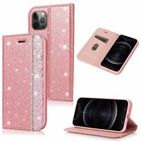 Women Wallet Phone Cases for iPhone 12 11 Pro Max X XS XR 7 8 Samsung Galaxy S10 S9 Plus Ultra-thin Magnetic Rhinestone PU Leather Flip Stand Cover
