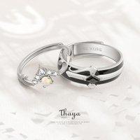 Fairy Tales Series Thaya S925 Sterling Silver Rings Colorful Opal Design Couple Rings For Women Girl Jewelry1