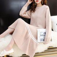 Women's Sweaters Women Sweater Dress Long Autumn Winter Thick Warm Female Dresses Slim Soft Rib Knitted Woman Loose