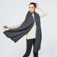 Otoño e invierno hecho de punto cara sonriente femenino espesado largo cálido chal color puro bufanda de lana masculina