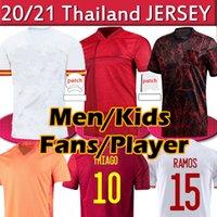Spain 21/22 Camisa de futebol versão Torcedor jogador KOKE Ramos Thiago A.Iniesta 2021 Soccer jerseys Homens mulheres crianças kits Futebol Shirts Uniformes Camisas de futebol
