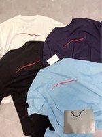 Erkek T Gömlek Kısa Kollu Moda Kravat Boya Baskı Avrupa Marka Yuvarlak Boyun Tshirt Rahat Çok Renkli Stilleri M-3XL